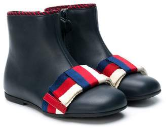 Gucci Kids tri-stripe ankle boots