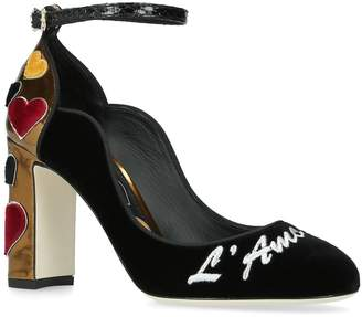 Dolce & Gabbana Vally Mary Jane Pumps 90