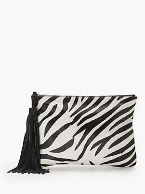 bddbdfd5743b Isabella Collection AND/OR Leather Animal Print Clutch Bag