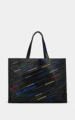 Balenciaga Men's Market Shopper Leather Tote Bag - Black