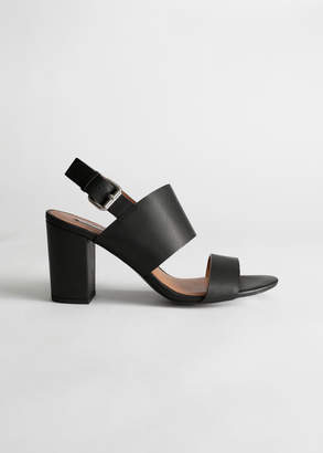 And other stories Heel Strap Leather Sandals