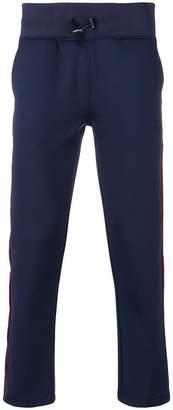Hydrogen drawstring side stripe trousers