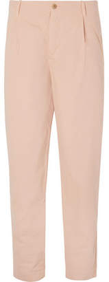 Folk Assembly Tapered Cotton-Canvas Trousers - Men - Pink