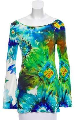 Blumarine Embellished Silk Top