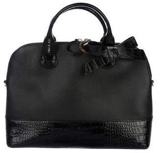 Paule Ka Embossed Leather Satchel