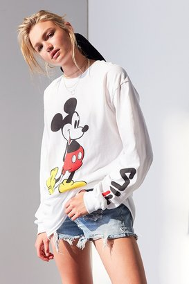 FILA+ UO Mickey Long Sleeve Disney Tee $39 thestylecure.com