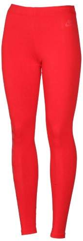 Nike Women's Leg A See Just Do It Casual Leggings-Red-XS