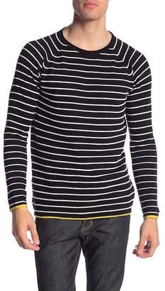 Scotch & Soda Colorblock Stripe Crew Neck Pullover