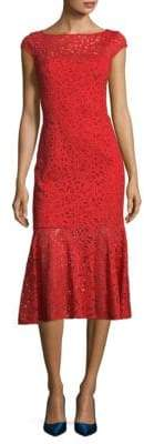 Jay Godfrey Nadal Floral Knee-Length Dress