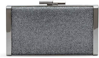 Jimmy Choo J Box Grey Glitter Clutch