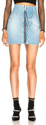 MSGM Ruffle Trim Zip Skirt