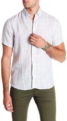 Report Collection Washed Linen Short Sleeve Slim Fit Linen Shirt