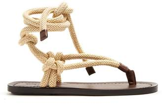 Saint Laurent Nu Pieds rope and leather sandals