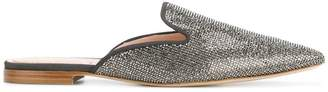 Alberta Ferretti studded pointed slippers