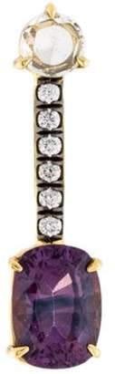 Jemma Wynne 18K Sapphire & Diamond Single Drop Earring yellow 18K Sapphire & Diamond Single Drop Earring