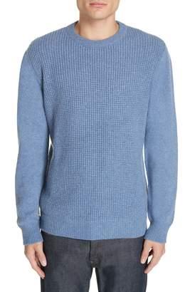 Eidos Waffle Knit Cashmere Crewneck Sweater