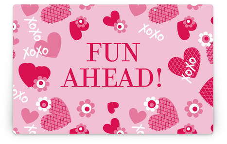 XOXO Personalizable Party Greeting Signs