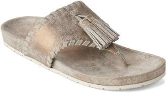 J/Slides Bronze Nigel Tassel Leather Flip Flops