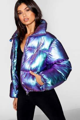boohoo Metallic Puffer Jacket
