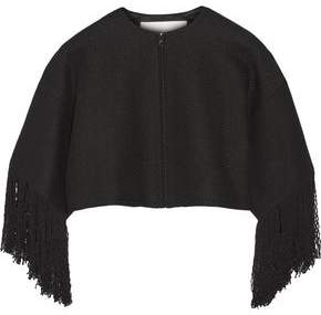 ADAM by Adam Lippes Cropped Fringed Linen And Cotton-Blend Tweed Jacket