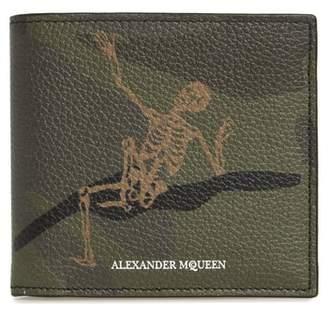 Alexander McQueen Dancing Skeleton Print Leather Wallet