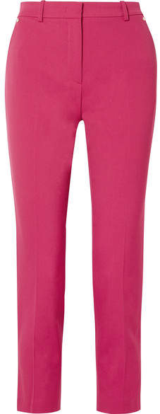 Wool-twill Tapered Pants - Pink
