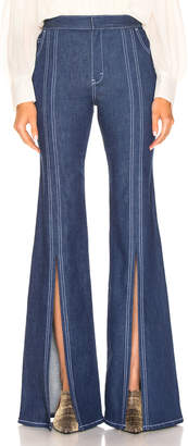 Chloé Flare Jean in Denim Blue | FWRD