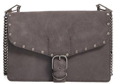 Rebecca MinkoffRebecca Minkoff Medium Biker Leather Shoulder Bag - Grey
