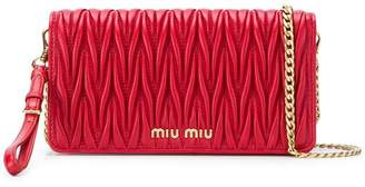 Miu Miu matelassé shoulder bag