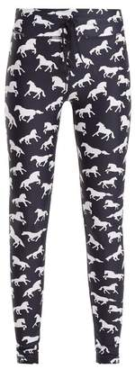 The Upside - Ballet Horse Print Performance Leggings - Womens - Navy White