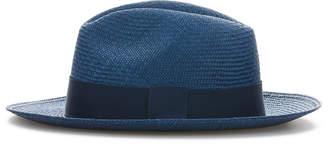 Cubavera Navy Panama Hat with Navy Band