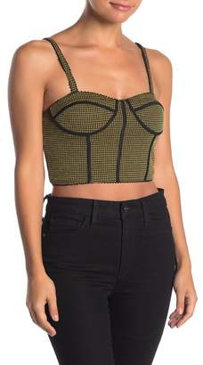 Honey Punch Check Pipe Bustier