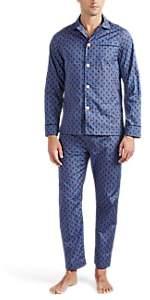 Maison Marcy Men's Magritte Cotton Poplin Slim Pajama Set - Blue Pat.