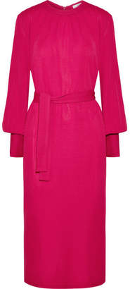 Tome Crepe Midi Dress - Fuchsia