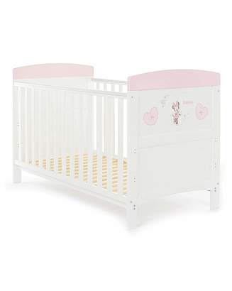 O Baby Obaby Minnie Mouse Hearts Cot Bed
