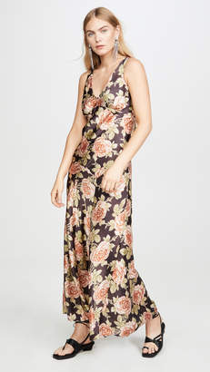 Paco Rabanne V Neck Floral Dress