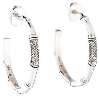John Hardy Diamond Bamboo Hoop Earrings