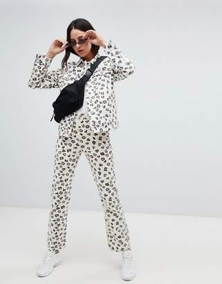 Weekday Leopard voyage jean in Organic Cotton