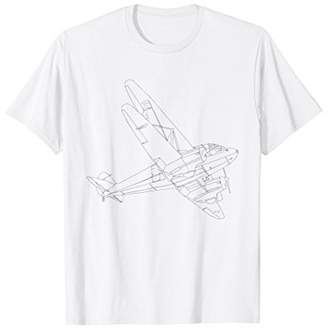 Simple Model Airplane Silhouette Shirt Love Airplanes Tee