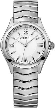 Ebel Wave 1216374 White Dial Stainless Steel Bracelet Ladies Watch