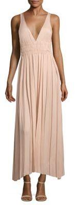 Elizabeth and James Ellison Pleated Maxi Dress $425 thestylecure.com