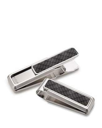 M Clip Stainless Steel & Carbon Money Clip, Black