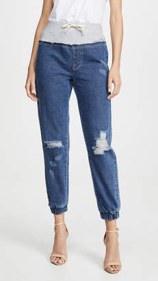 KENDALL + KYLIE French Terry Yoke Jeans