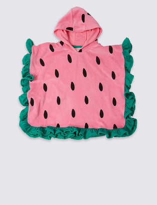 Marks and Spencer Pure Cotton Watermelon Poncho (3 Months - 7 Years)