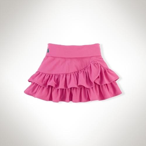 Knit Ruffled Cotton Skirt