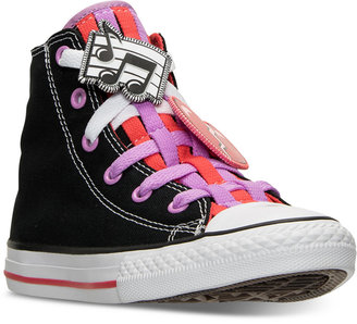 Converse Little Girls' Chuck Taylor Loopholes Emoji High Top Casual Sneakers from Finish Line $44.99 thestylecure.com
