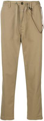 Closed elasticated waist chinos
