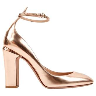 6ab134d604f6a Valentino Tango Gold Leather Heels