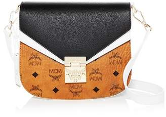 MCM Patricia Visetos Small Color-Block Leather Crossbody