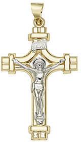 Rand & Paseka 14K Gold Two-tone Crucifix Pendant